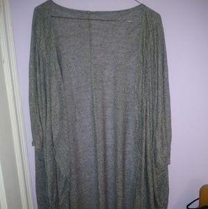 Sweaters - Grey kimono/cardigan